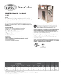 Oasis R5 Remote Water Chiller 5 Gph Fresh Water Systems