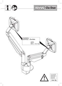 Novus CLU Duo Monitor Arm User Guide