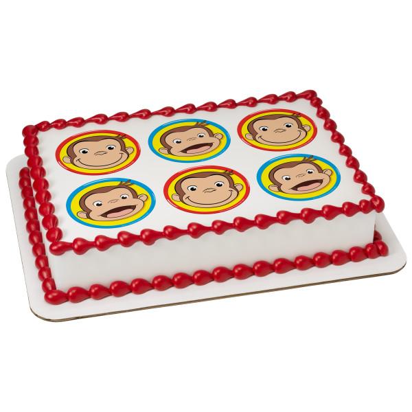 Curious George® Big Smiles PhotoCake® Edible Image®