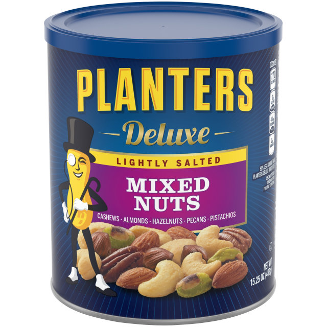 PLANTERS Deluxe Lightly Salted Mixed Nuts 15.25 oz Can image