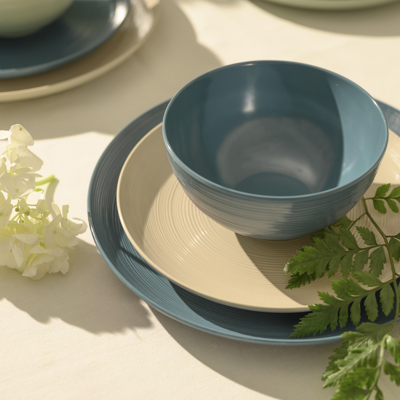 American Conventional Plate & Bowl Sets, Sage, 12-piece set slideshow image 7