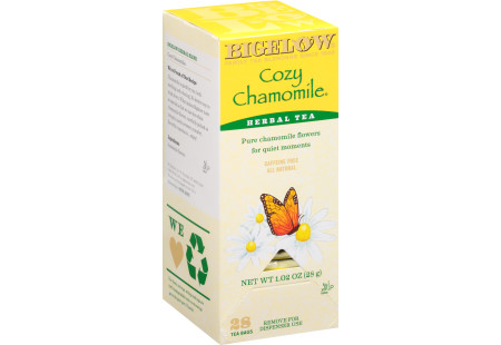 Cozy Chamomile Herbal Tea - Case of 6 boxes- total of 168 teabags