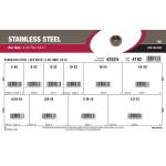 "Stainless Steel Hex Nuts Assortment (#4-40 thru 1/2""-13)"