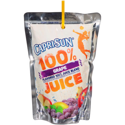 Capri Sun 100% Juice Grape, 10 - 6 fl oz Pouches