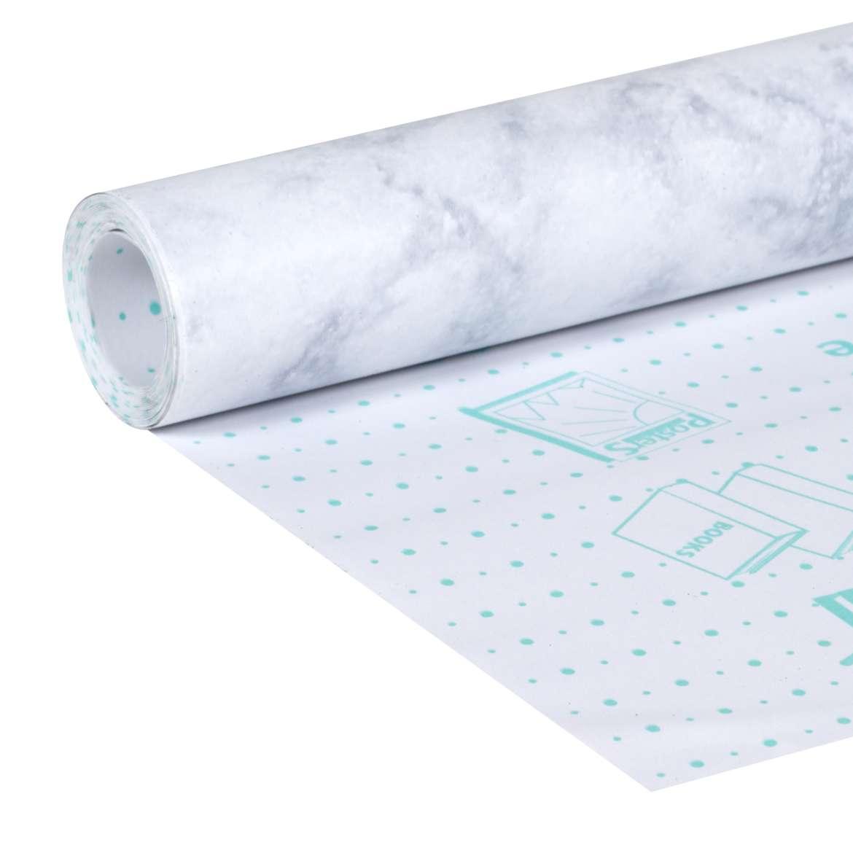 Peel Amp Stick Laminate Shelf Liner White Marble Duck Brand