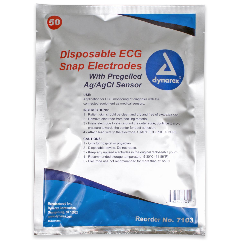 Ecg Snap Electrode - 50mm X 55mm - Adult