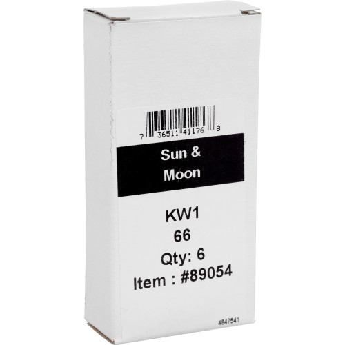 WacKey Sun and Moon Key Blank Kwikset/66 KW1