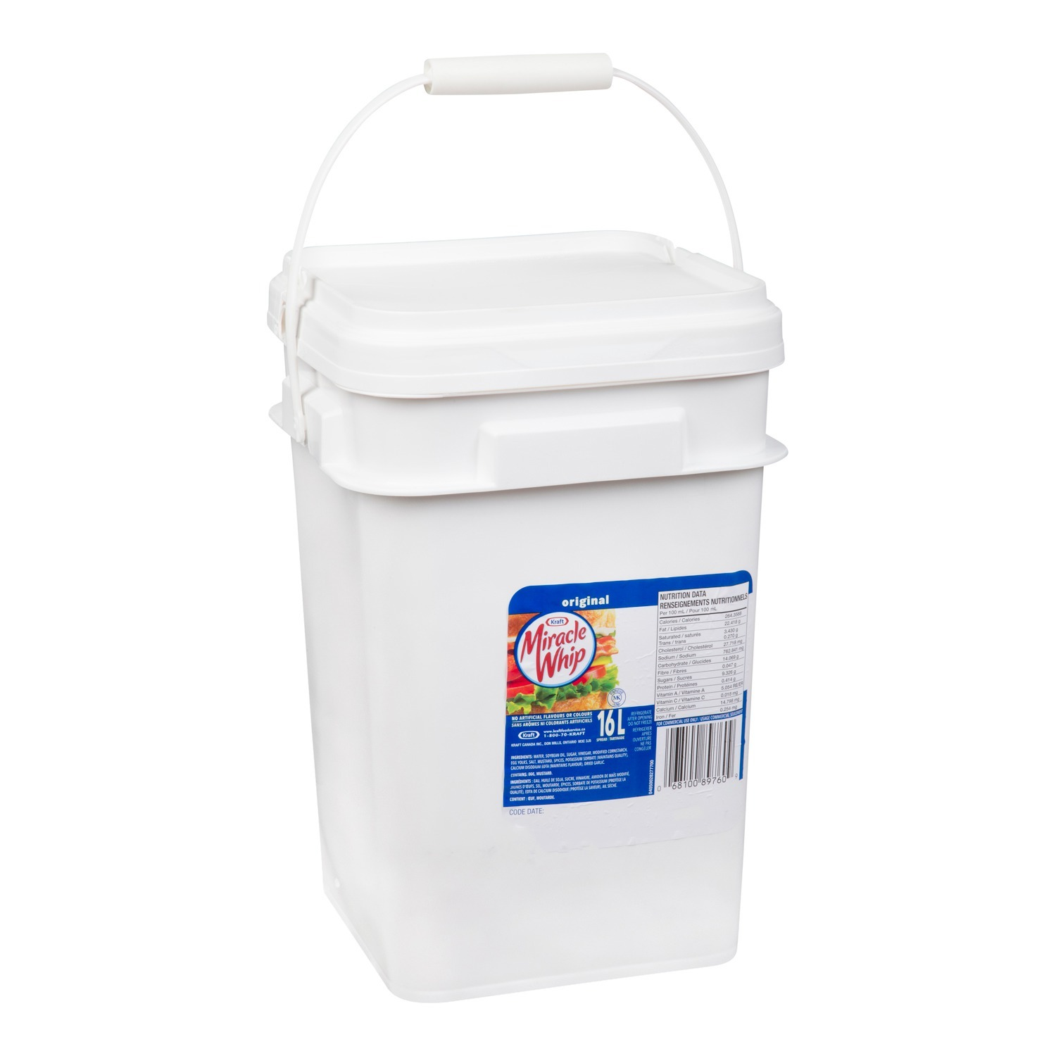 KRAFT MIRACLE WHIP tartinade, seau – 1 x 16 L