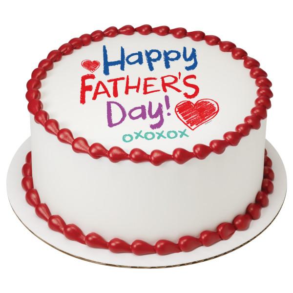 Happy Father's Day Crayon PhotoCake® Edible Image®