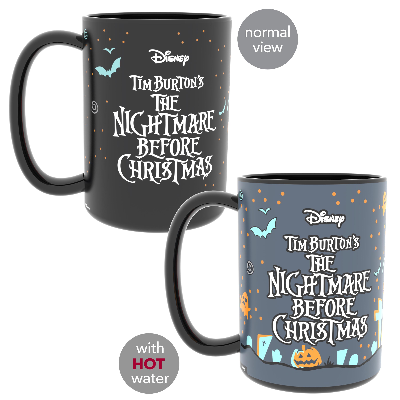Disney The Nightmare Before Christmas 15 ounce Coffee Mug and Spoon, Jack the Pumpkin King & Sally slideshow image 4