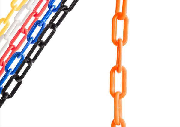 "Orange 2"" Plastic Chain Ft. SunShield - 100' 1"