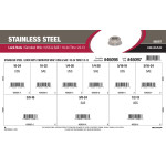 "Stainless Steel Serrated Whiz Lock Nuts Assortment (#10-24 thru 1/2""-13 USS & SAE Thread Variants)"