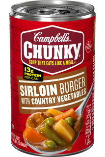 Sirloin Burger with Country Vegetables Soup