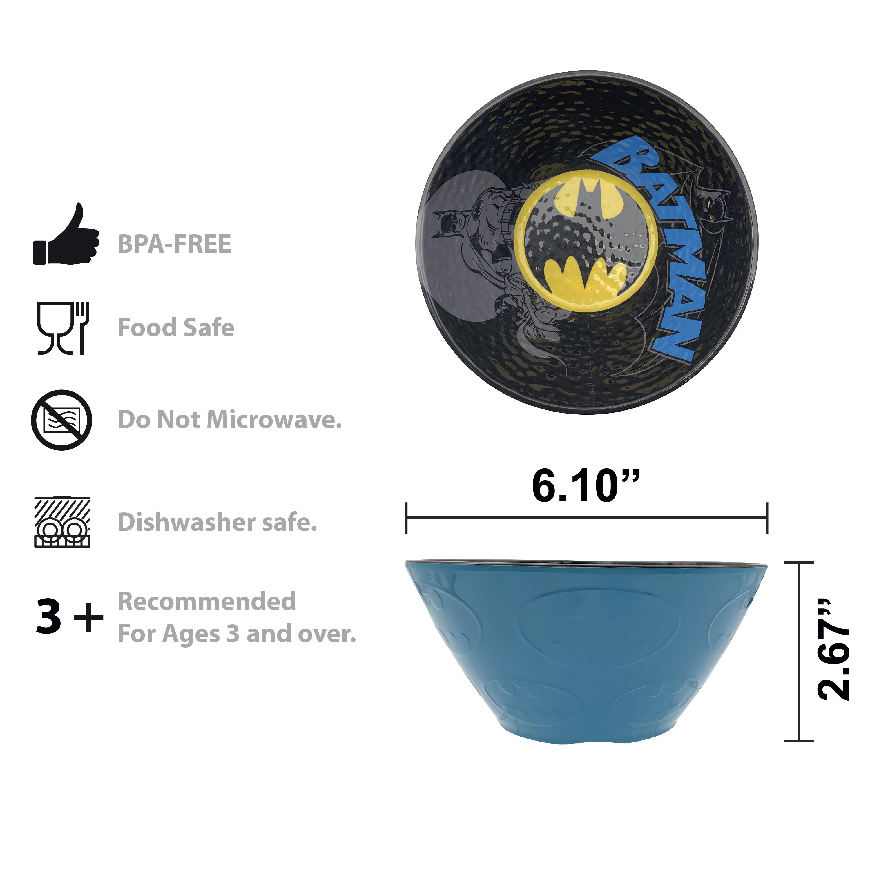 DC Comics Plate, Bowl and Tumbler Set, Batman, 3-piece set slideshow image 7