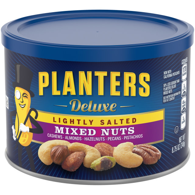 PLANTERS Deluxe Lightly Salted  Mixed Nuts 8.75 oz Can image