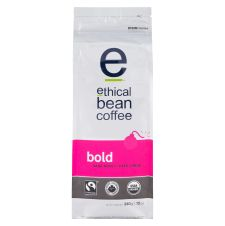 Ethical Bean Fair Trade Organic Coffee, Bold Dark Roast, Whole Bean Coffee - 12oz (340g) Bag
