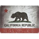 """Aluminum California Flag Sign 10"""" x 14"""""""