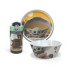 Star Wars: The Mandalorian Plate, Bowl and Water Bottle, The Child (Baby Yoda), 3-piece set slideshow image 1
