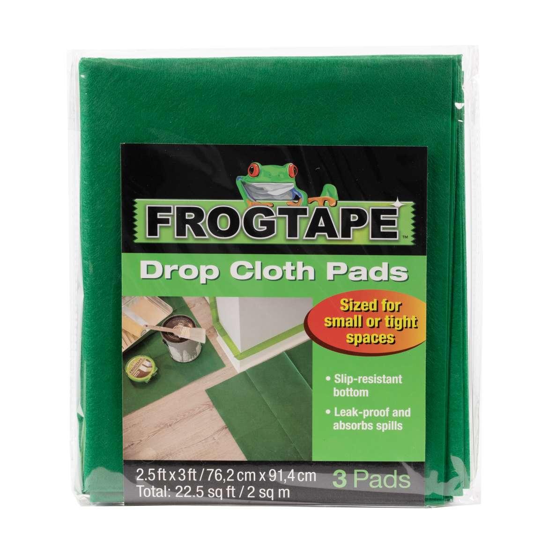FrogTape™ Drop Cloth Pads - Green, 3 pk, 2.5 ft. x 3 ft.