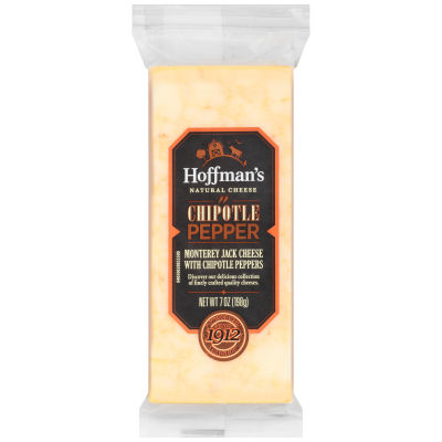 Hoffman's Natural Chipotle Pepper Cheddar Cheese 7 oz Wrapper