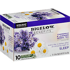 Benefits Chamomile and Lavender Herbal Tea K-Cup® pods - Case of 6 boxes- total of 60 K-Cup® pods