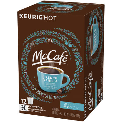 McCafe French Vanilla Coffee K-Cup Pods, 12 count Box