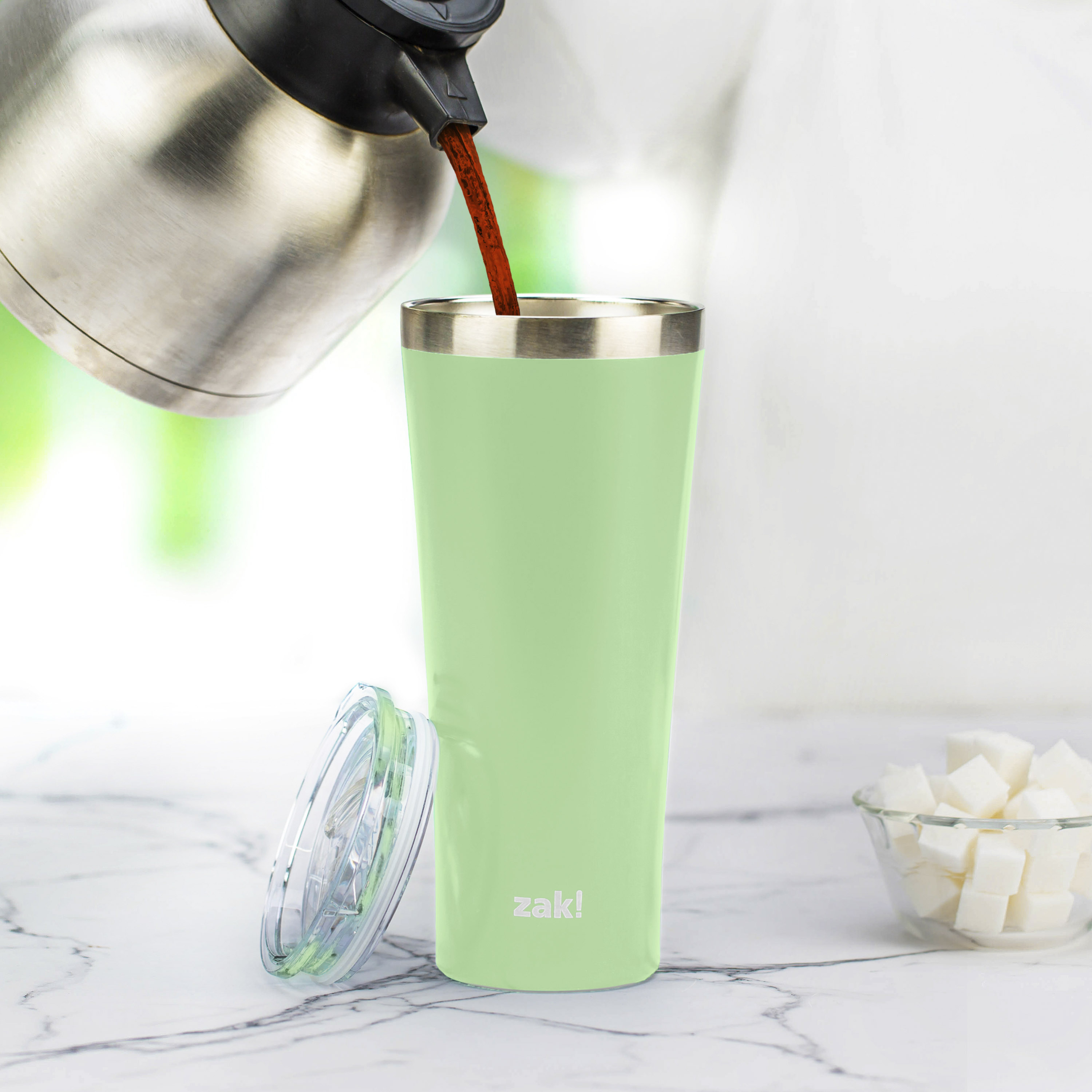 Alpine 30 ounce Stainless Steel Vacuum Insulated Tumbler with Straw, Neo Mint slideshow image 10