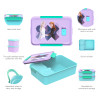 Disney Frozen 2 Movie Reusable Divided Bento Box, Elsa and Anna, 3-piece set slideshow image 2