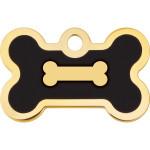 Gold with Black Epoxy Small Bone Quick-Tag