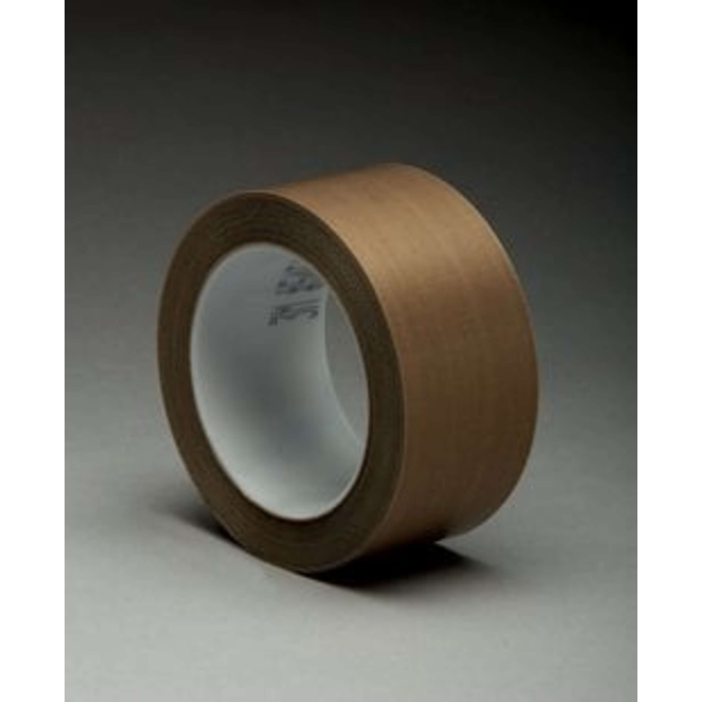 3M™ General Purpose PTFE Glass Cloth Tape 5151PL, Light Brown, 3 in x 36 yd, 3.5 mil, 12 rolls per case