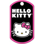 Hello Kitty Black Large Military ID Quick-Tag
