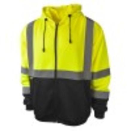 Radians SJ01B-3 Class 3 Color Blocked Hooded Sweatshirt