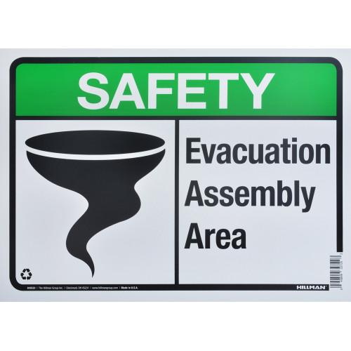 Aluminum Evacuation Safety Sign 10