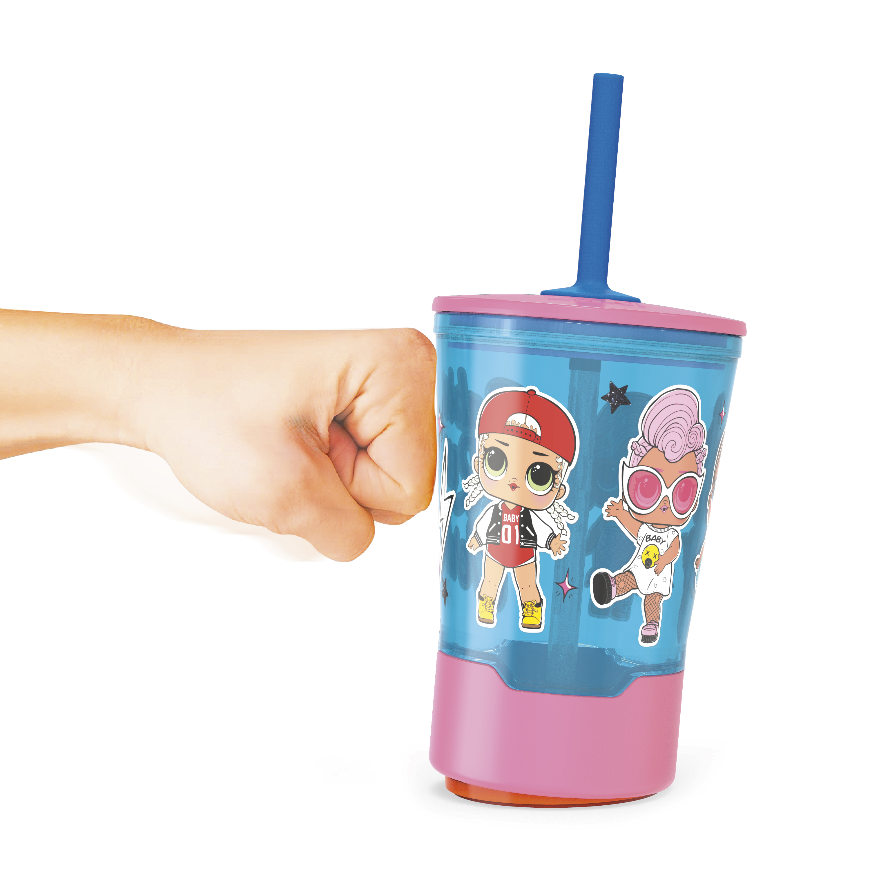 LOL Surprise 16 ounce Mighty Mug Tumbler with Straw, Babies Run the World image