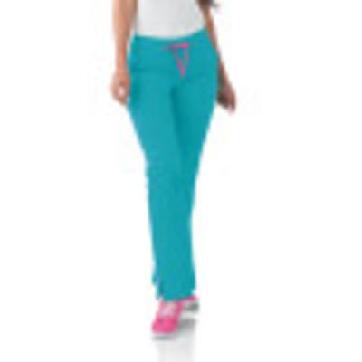 Smitten Miracle HOTTIE Scrub Pants for Womens: 4 Pocket, Contemporary Slim Fit, Super Stretch, Drawstring Waist Straight Leg Cargo Medical Scrubs S201002-