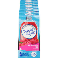Crystal Light On-The-Go Raspberry Ice Drink Mix, 10 Packets (Pack of 6)