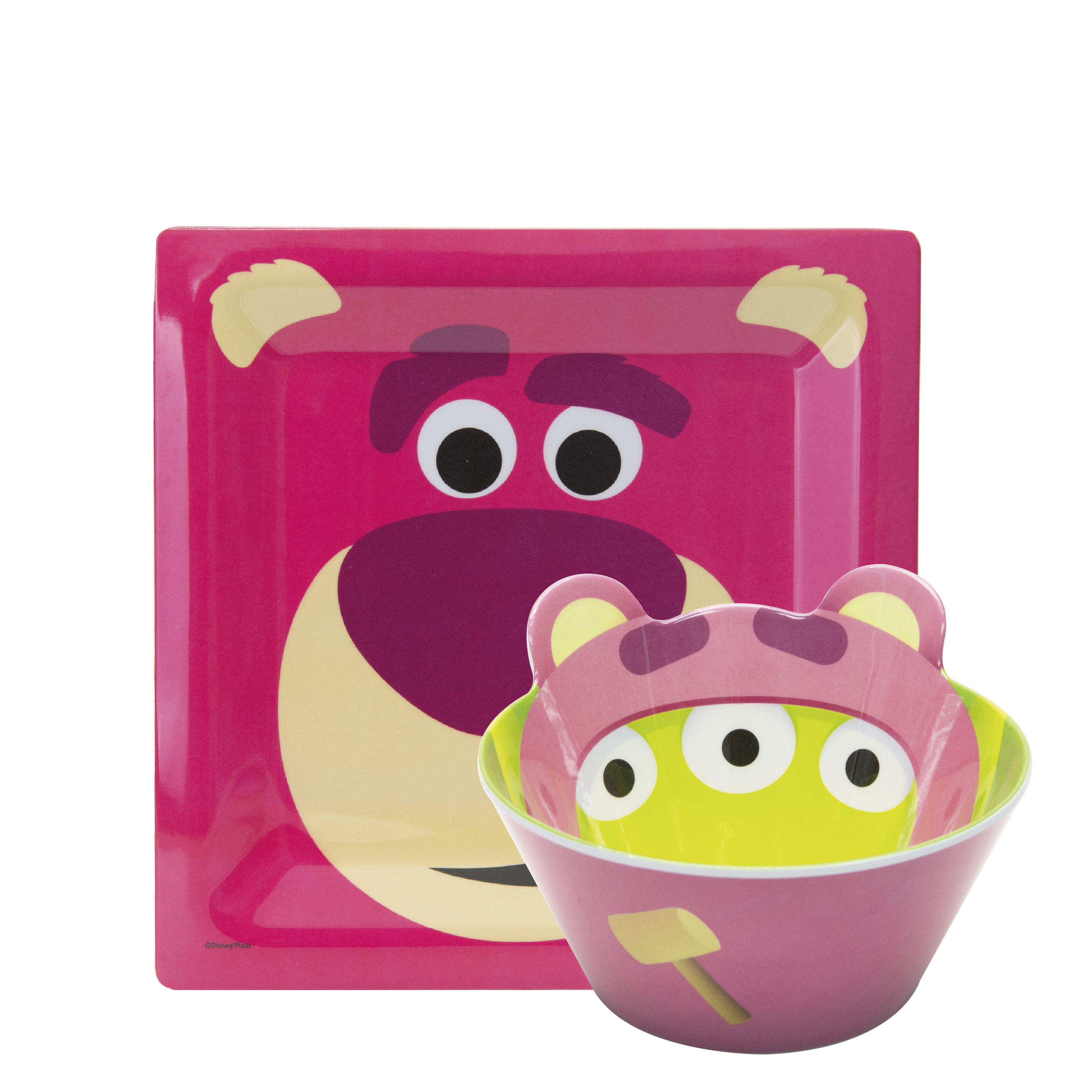 Disney and Pixar Toy Story 4 Plate and Bowl Set, Lotso, 2-piece set slideshow image 1