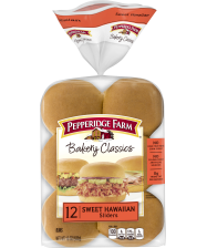 (15 ounces) Pepperidge Farm® Sweet & Soft Slider Buns (12 buns), split and toasted