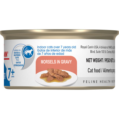 Indoor 7+ Morsels in Gravy Canned Cat Food