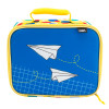 Grid Lock Insulated Reusable Lunch Bag, Planes slideshow image 2