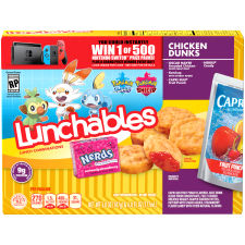 Lunchables Chicken Dunks Capri Sun Fruit Punch & Nerds Candy, 9.8 oz Box