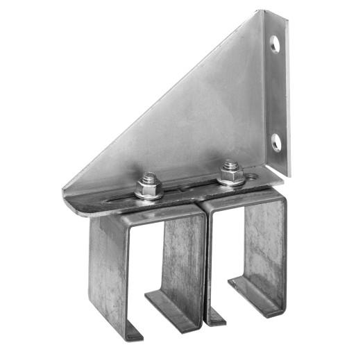Hillman Galvanized Box Rail Face Mount Bracket Double Adjustable