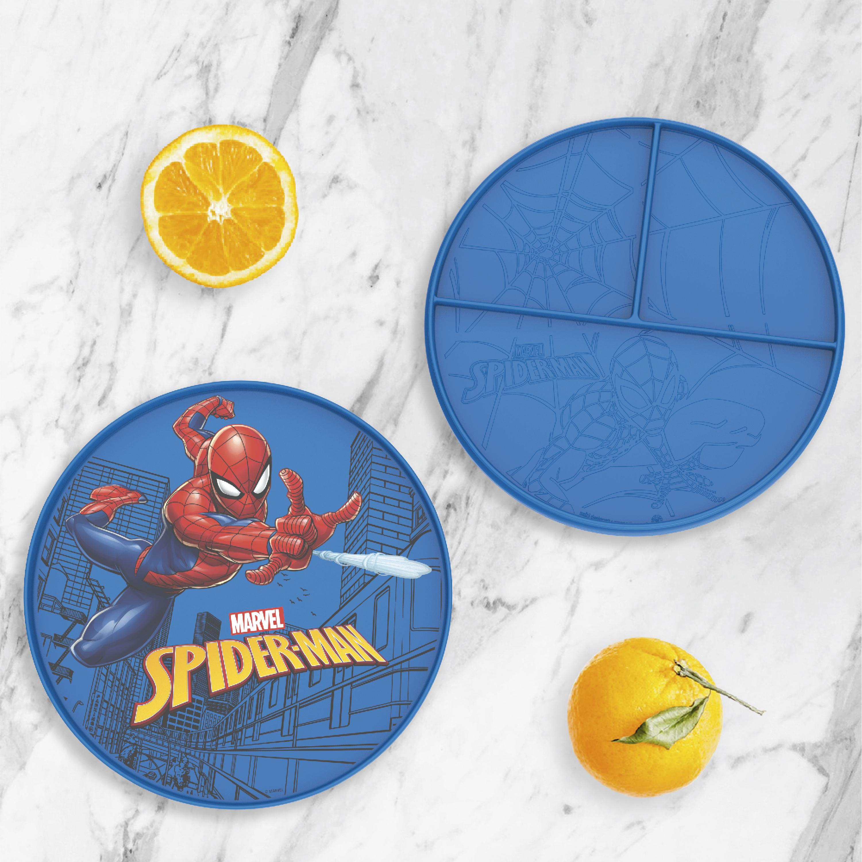 Marvel Comics Kids Dinnerware, Spider-Man, 2-piece set slideshow image 2
