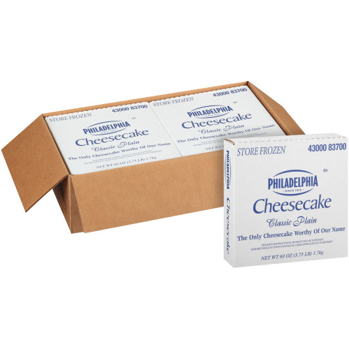 PHILADELPHIA Plain Cheesecake, 60 oz. (Pack of 4)