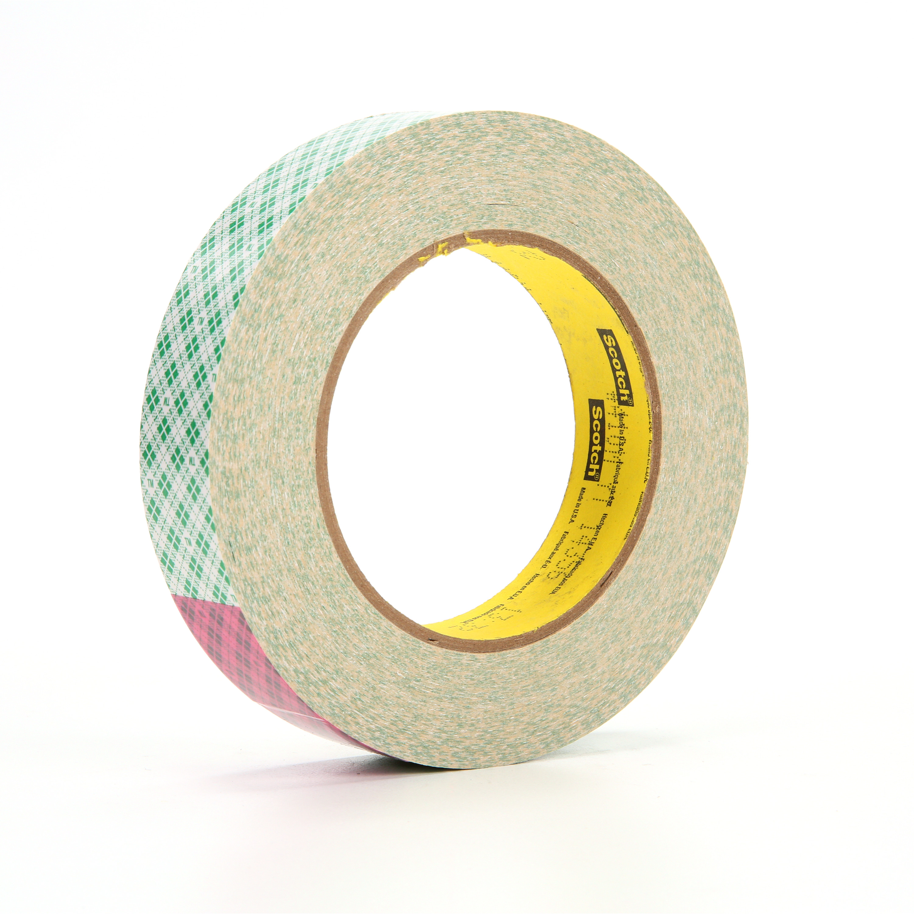 3M™ Double Coated Paper Tape 410M, Natural, 1 in x 36 yd, 5 mil, 36 rolls per case
