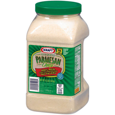 Kraft 100% Grated Parmesan Cheese 4.5 lb Jar