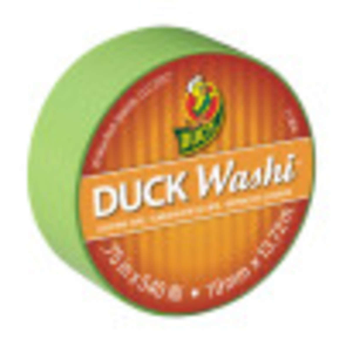 Duck Washi® Crafting Tape - Lime, 0.75 in. X 15 yd. Image