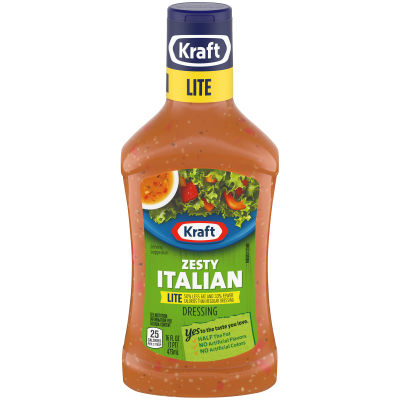 Kraft Zesty Italian Lite Dressing 16 fl oz Bottle