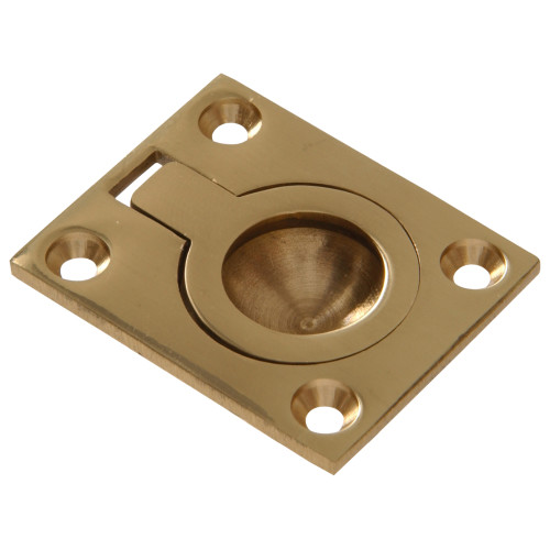 Hardware Essentials Ring Pull Brite Brass