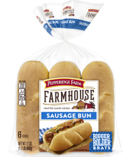 (17 ounces) Pepperidge Farm® Farmhouse™ Sausage Buns, split and toasted
